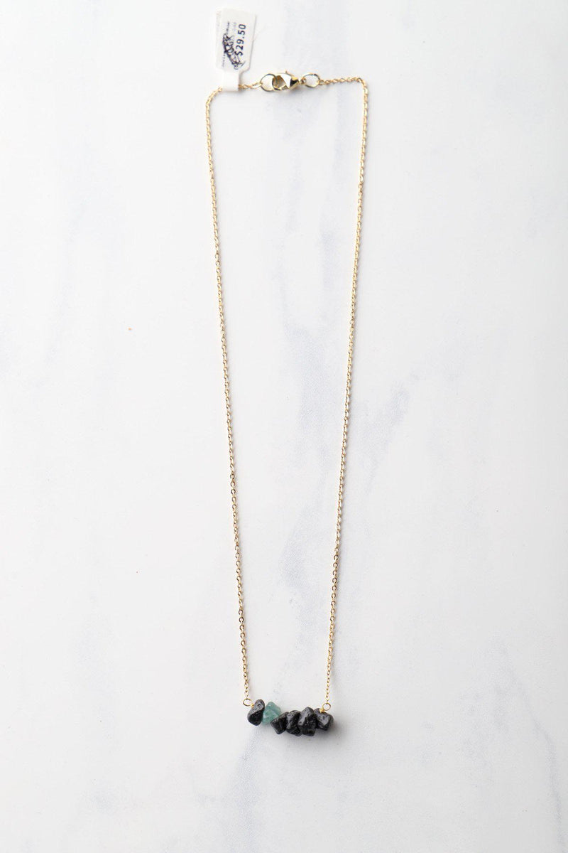 Raw Lava Chip Diffuser Necklace / Lt Blue - Gallery 512 Boutique