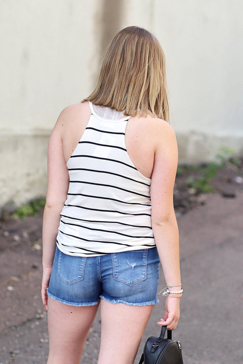 Finli Stripe Halter Tank - Gallery 512 Boutique