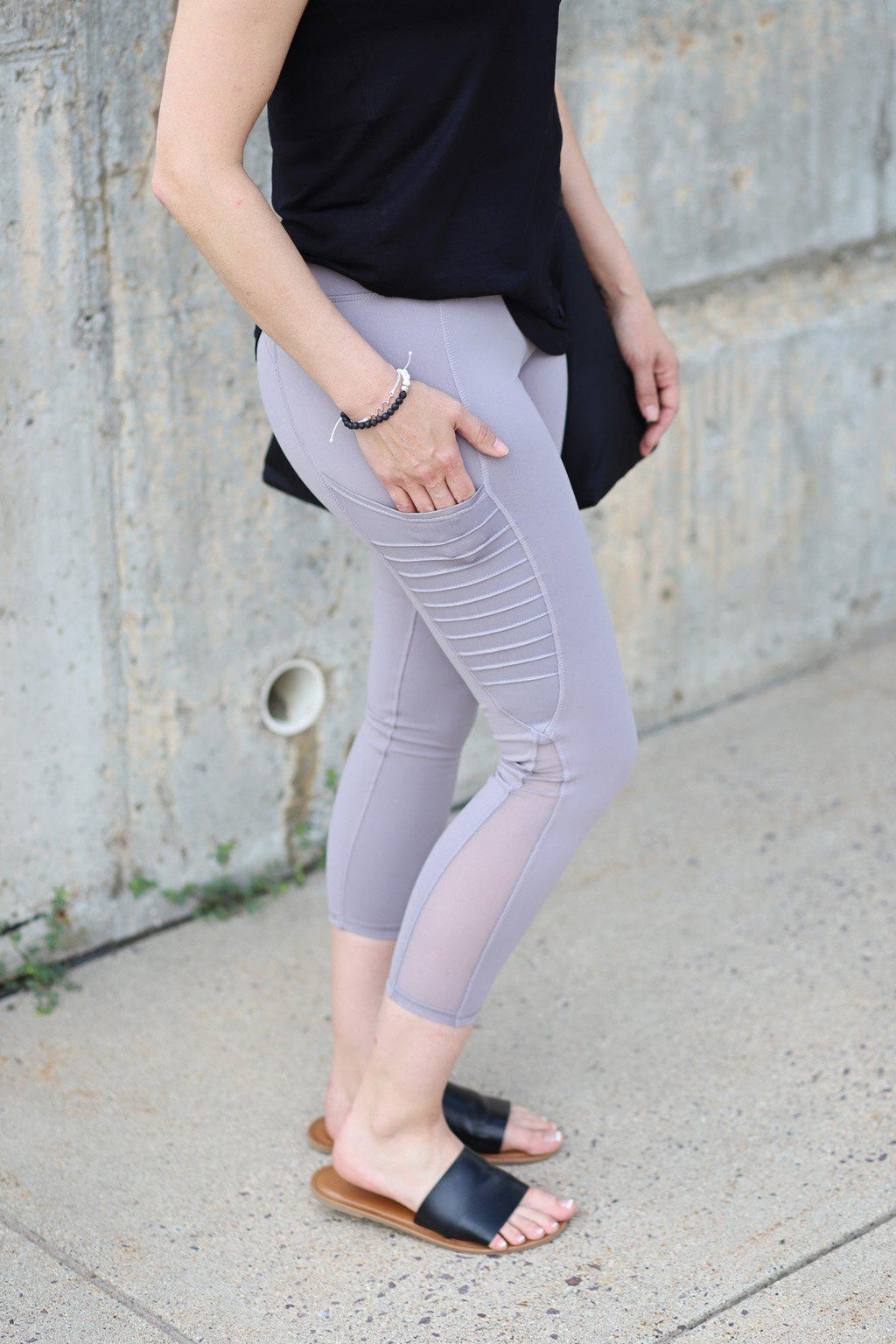 Kaity Capri Mauve Leggings - Gallery 512 Boutique