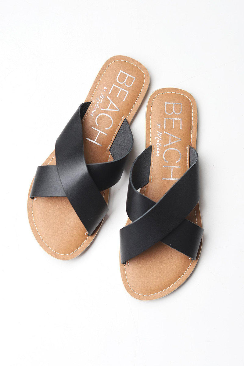 Pebble Black Sandal