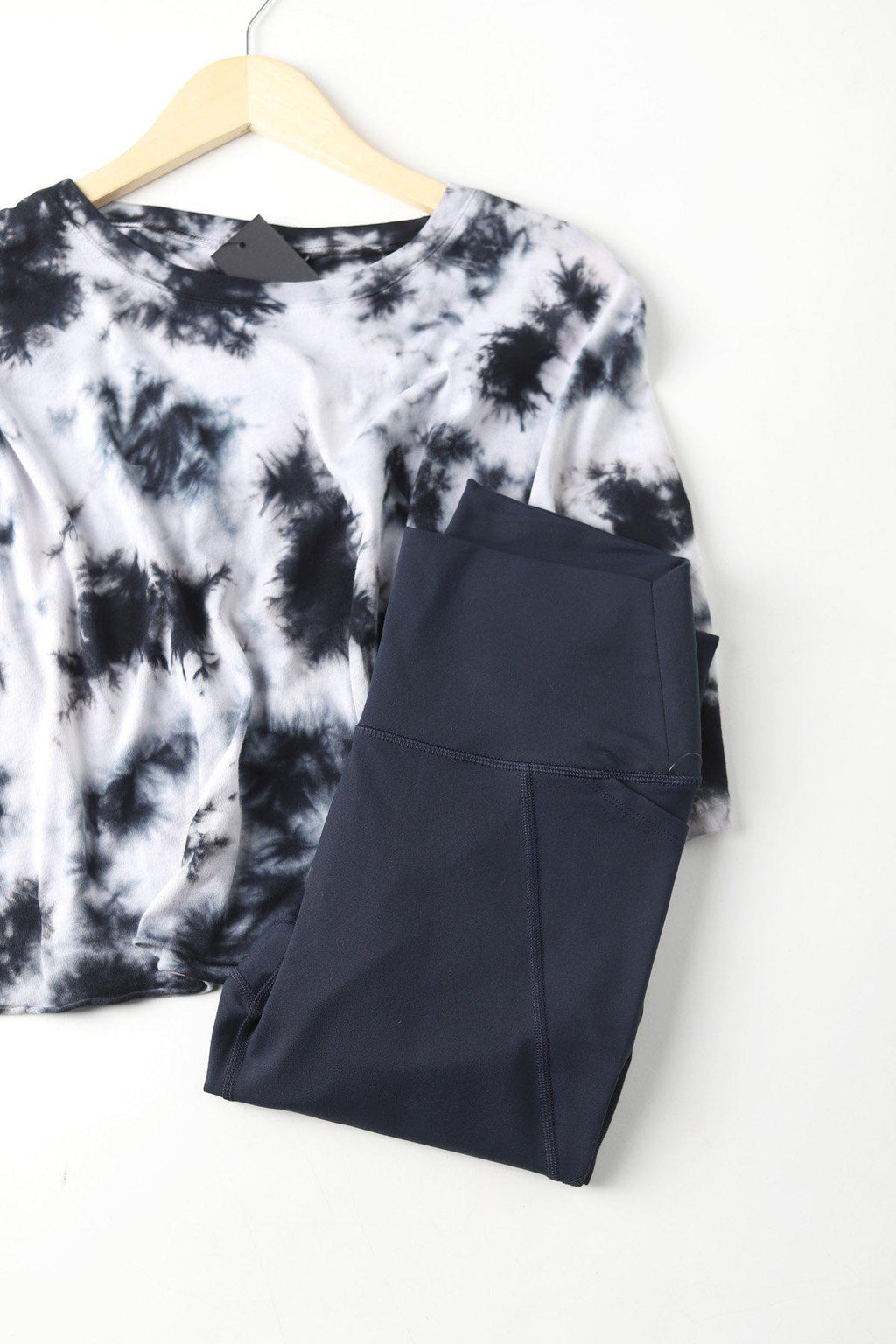 Tie-Dye Navy Crop Top