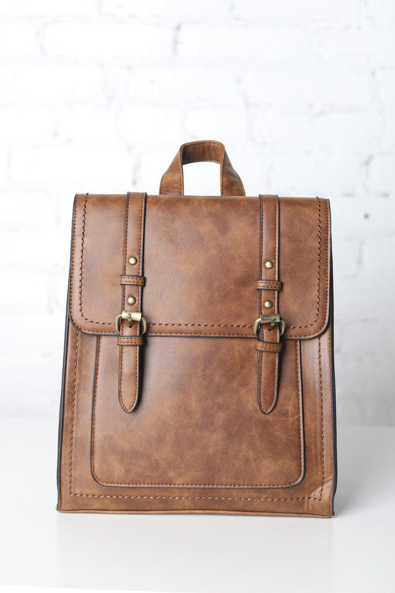 Kat Convertible Structured Backpack - Brown