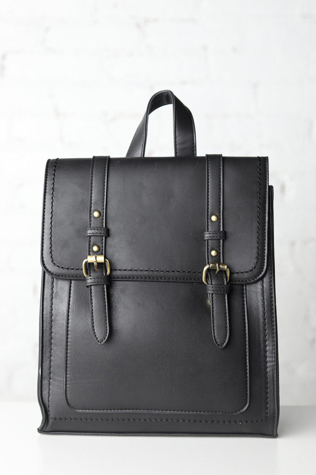 Kat Convertible Structured Backpack - Black
