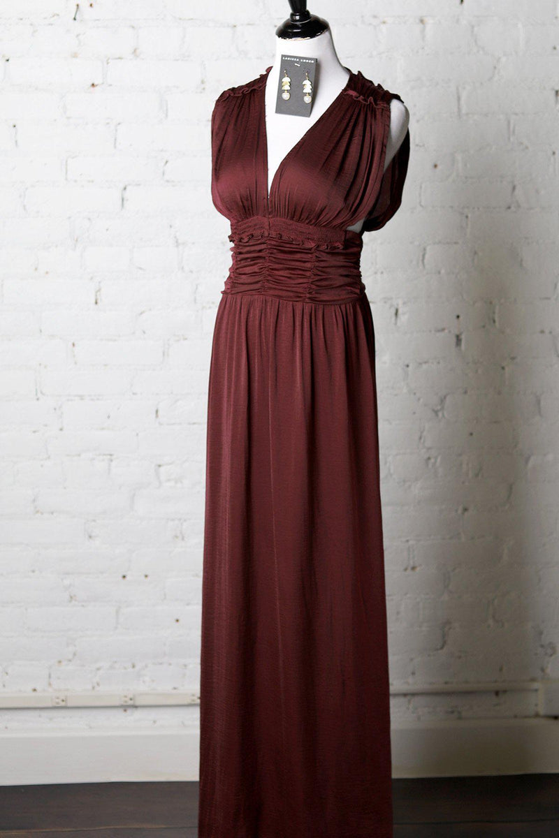Aurinda Ruched Maxi Dress