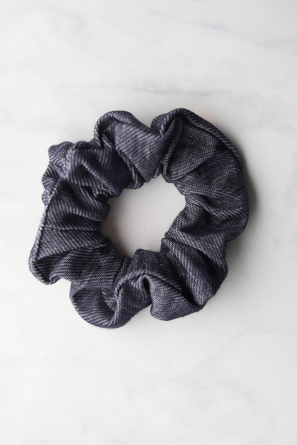 Chambray Scrunchie / Dark Chambray - Gallery 512 Boutique