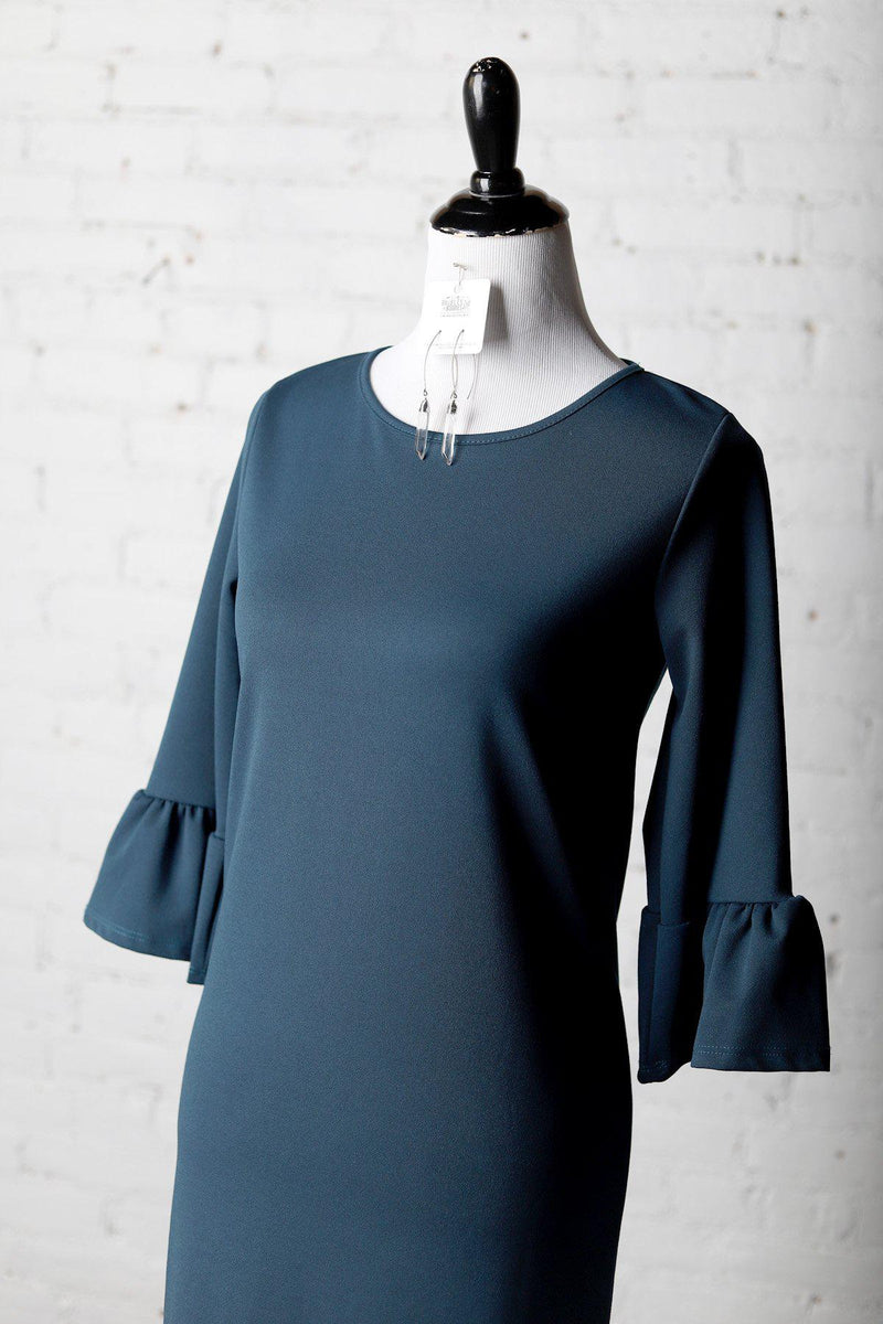Charlotte 3/4 Sleeve Shift Dress