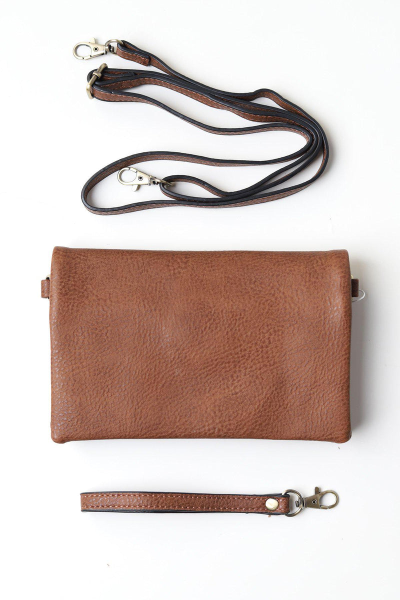 Kate Hickory Crossbody Clutch