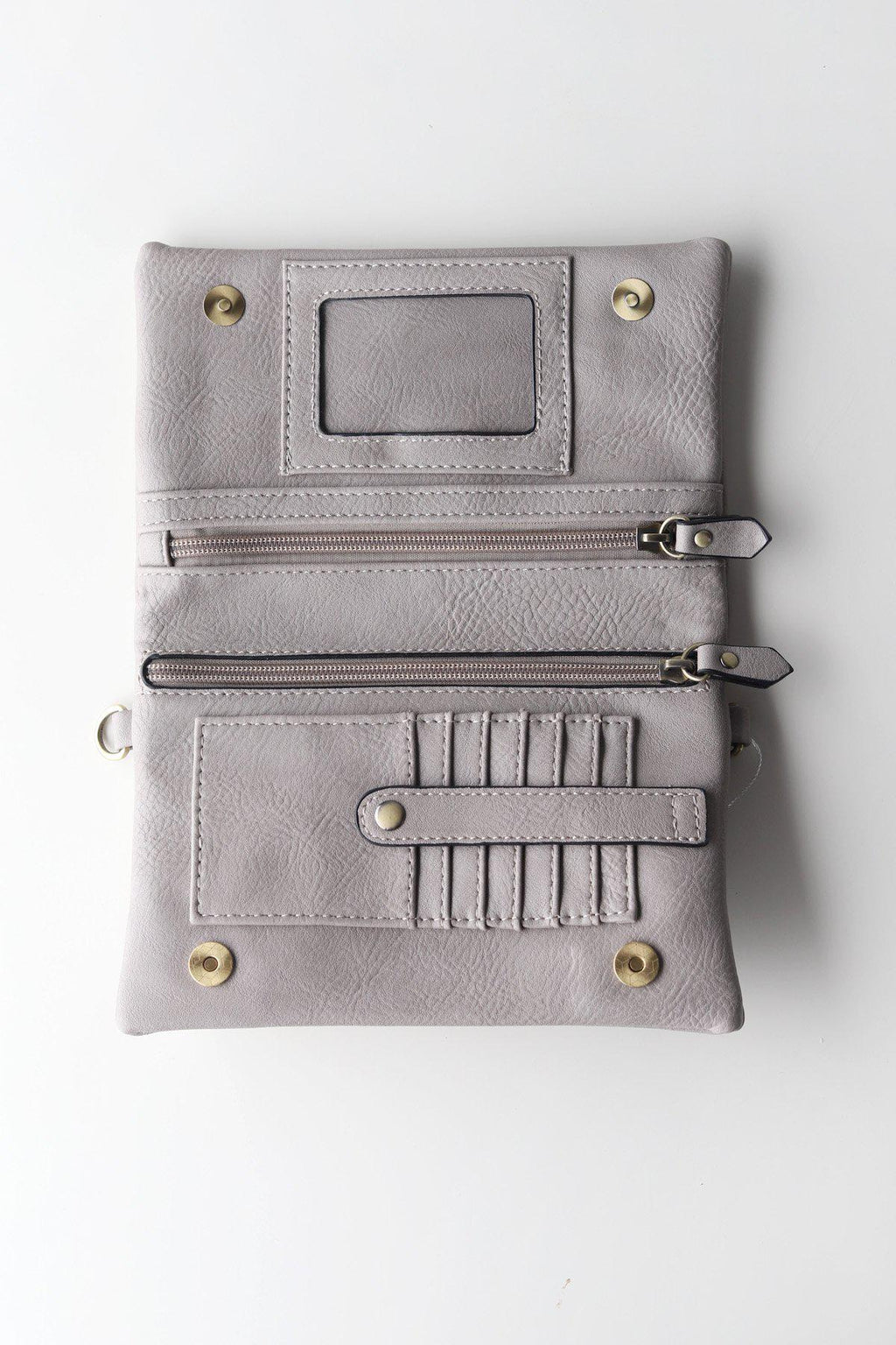 Crossbody Clutch / Mystic Grey - Gallery 512 Boutique
