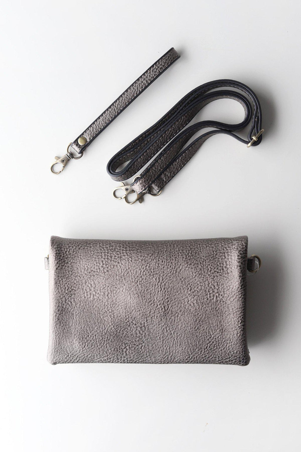 Crossbody Clutch / Pewter - Gallery 512 Boutique