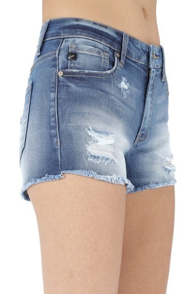 Polli Mid Rise Distress Shorts - Gallery 512 Boutique