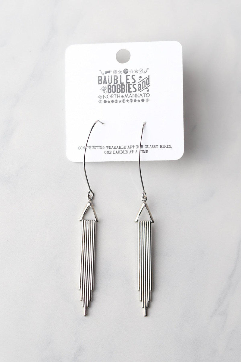 Art Deco Earrings / Silver - Gallery 512 Boutique