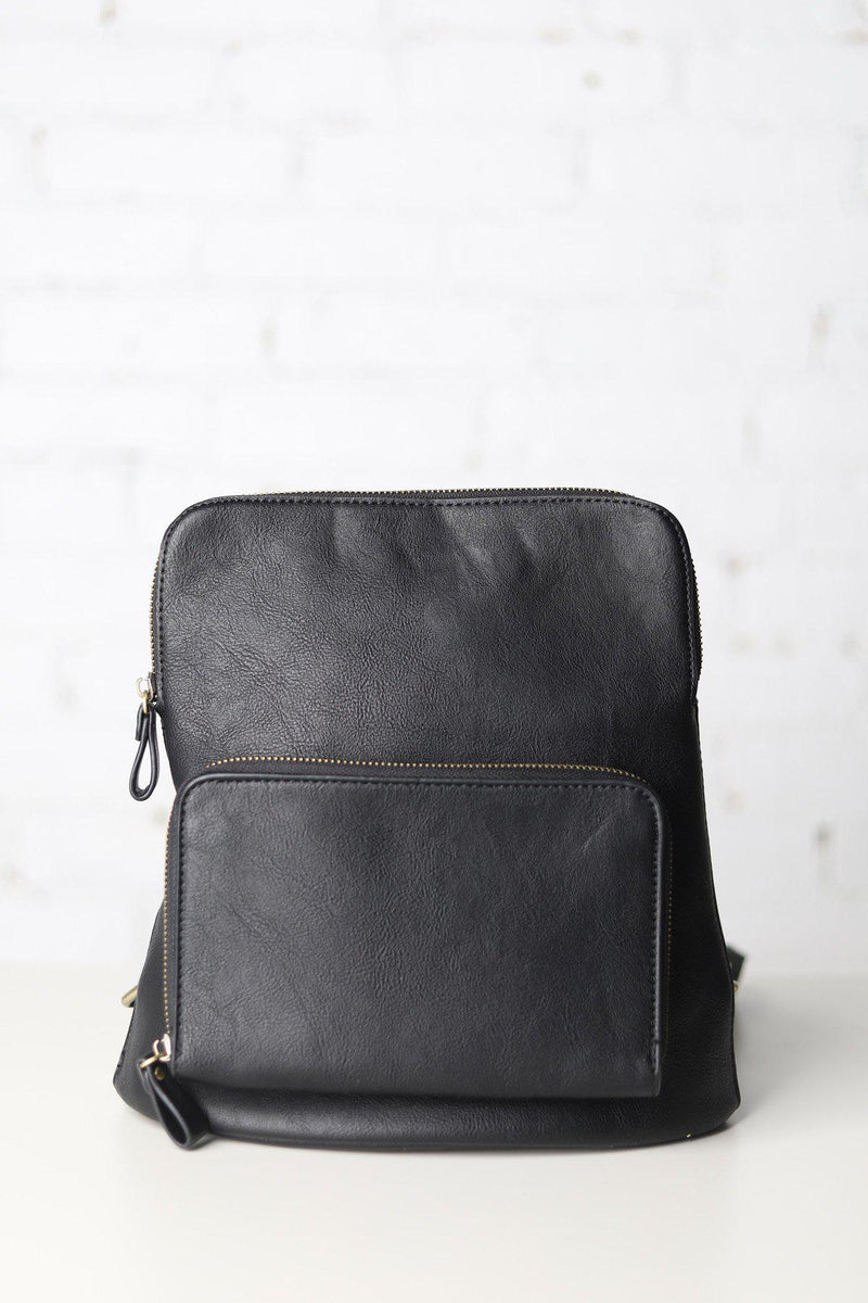 Julia Black Mini Backpack - Black