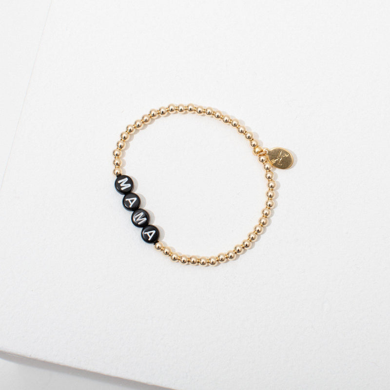 Mama Bracelet in Gold by Larissa Loden