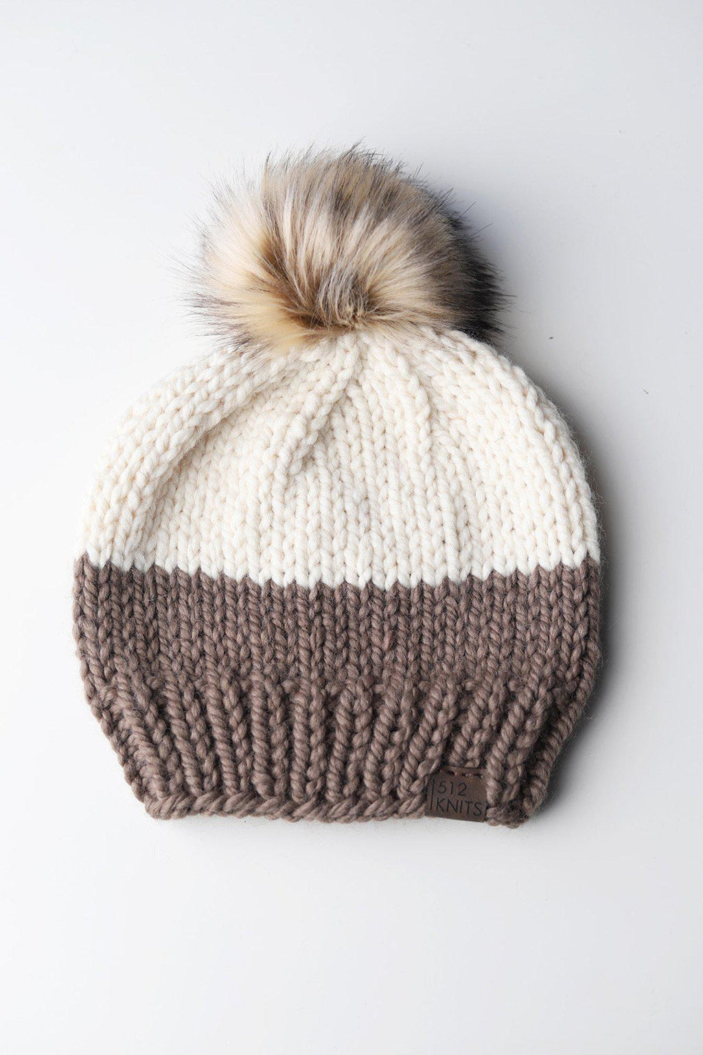 Taupe + Ivory Holland Beanie