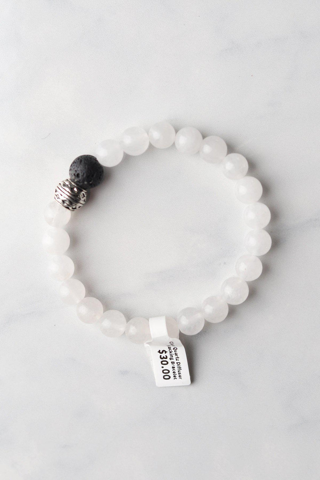 Clear Quartz Diffuser Bracelet - Gallery 512 Boutique