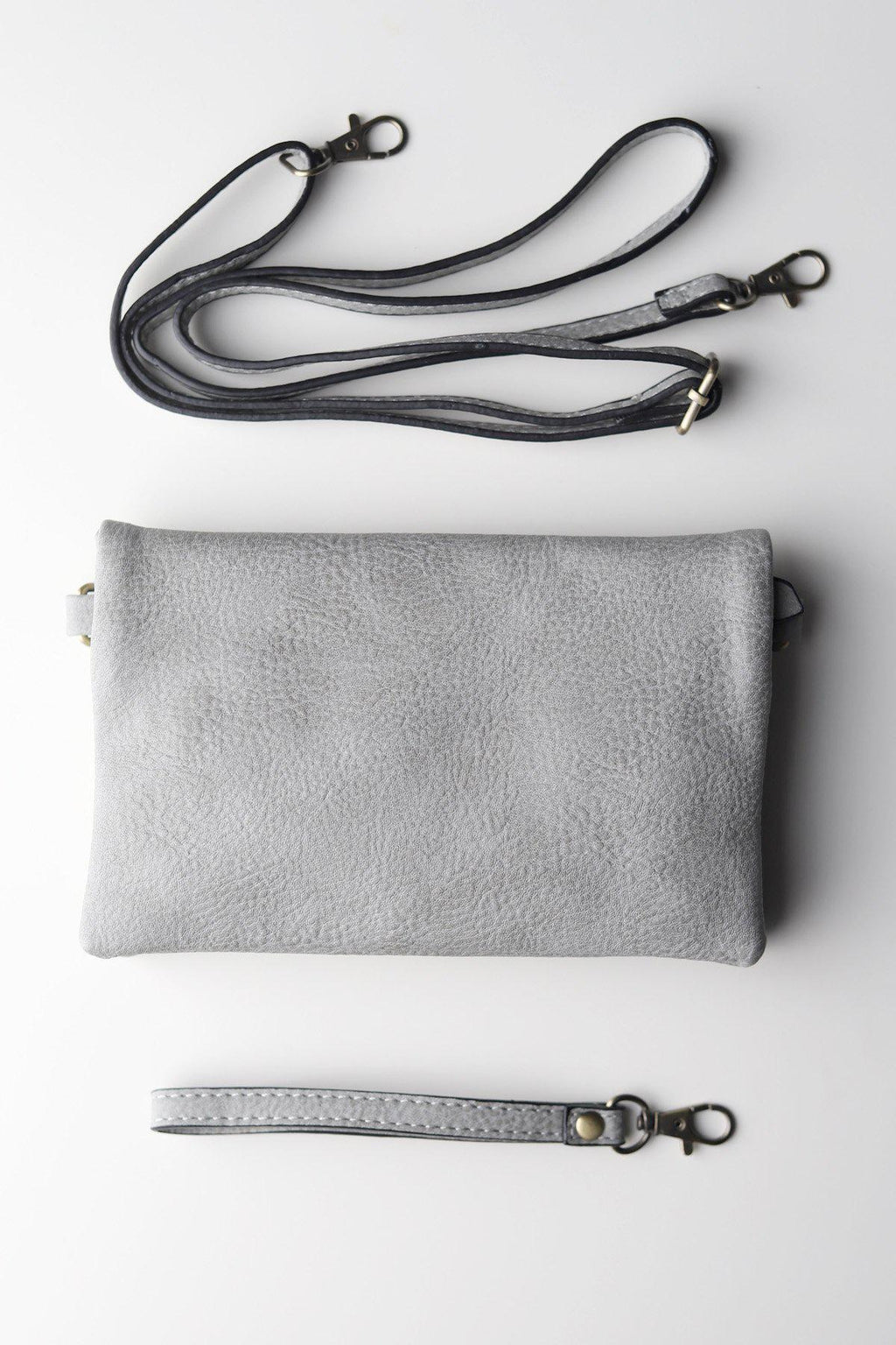 Crossbody Clutch / Lt Grey - Gallery 512 Boutique