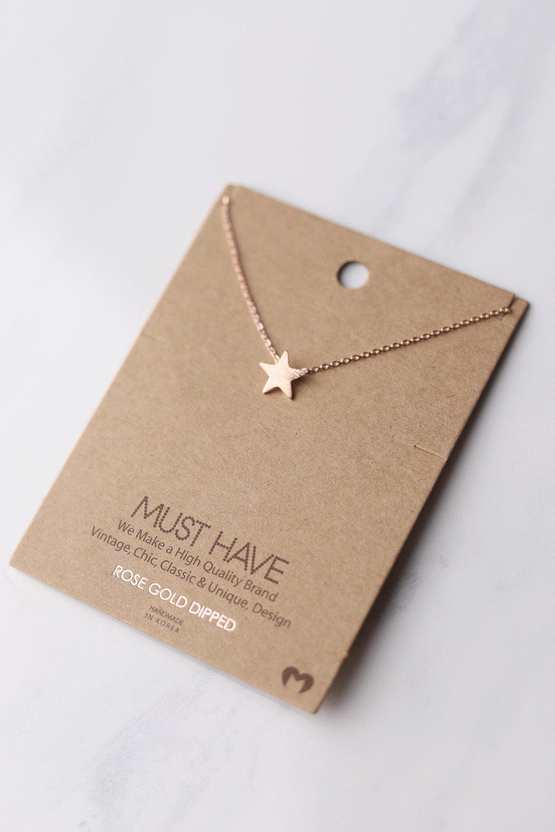 Simple Star Necklace - Rose Gold