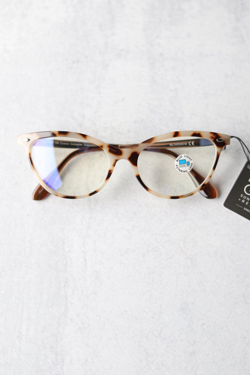 Ivory Tortoise Cat Eye Blue Light Glasses