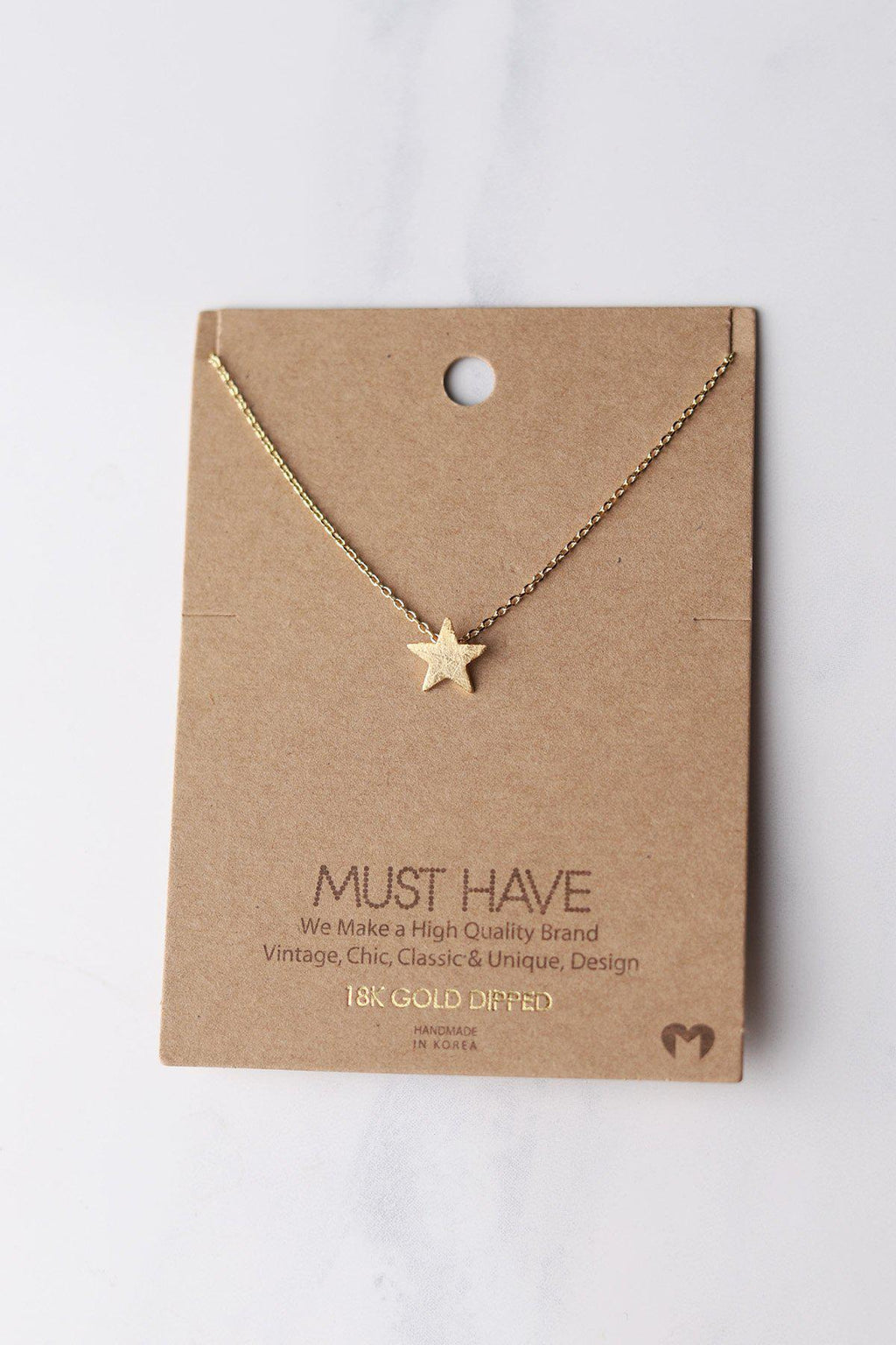 Simple Star Necklace - Gold