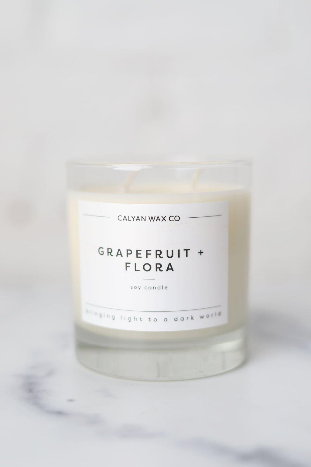 Grapefruit + Flora Glass Tumbler