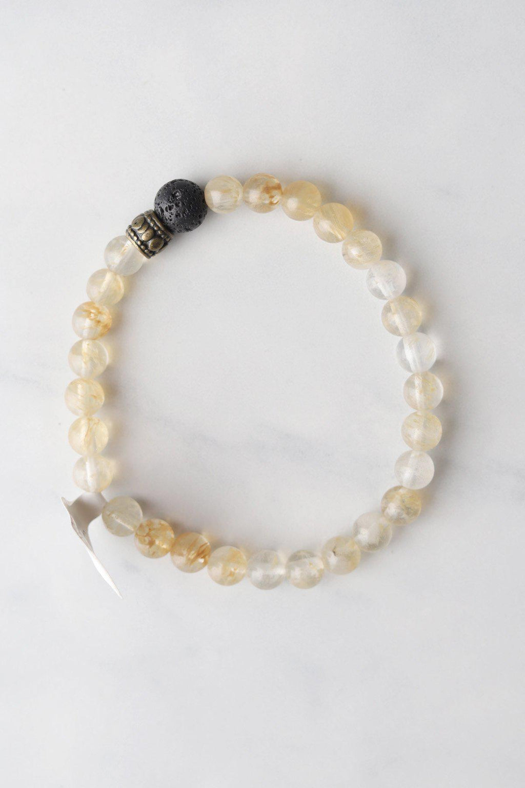Lemon Quartz Stone Aromatherapy Bracelet - Gallery 512 Boutique