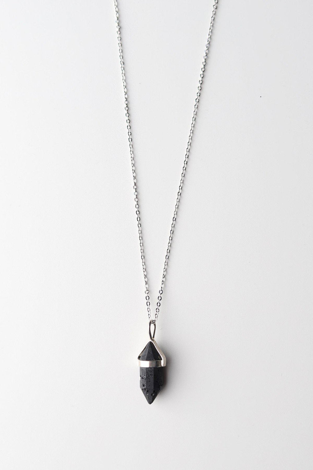 Crystal Point Aromatherapy Necklace / Silver - Gallery 512 Boutique