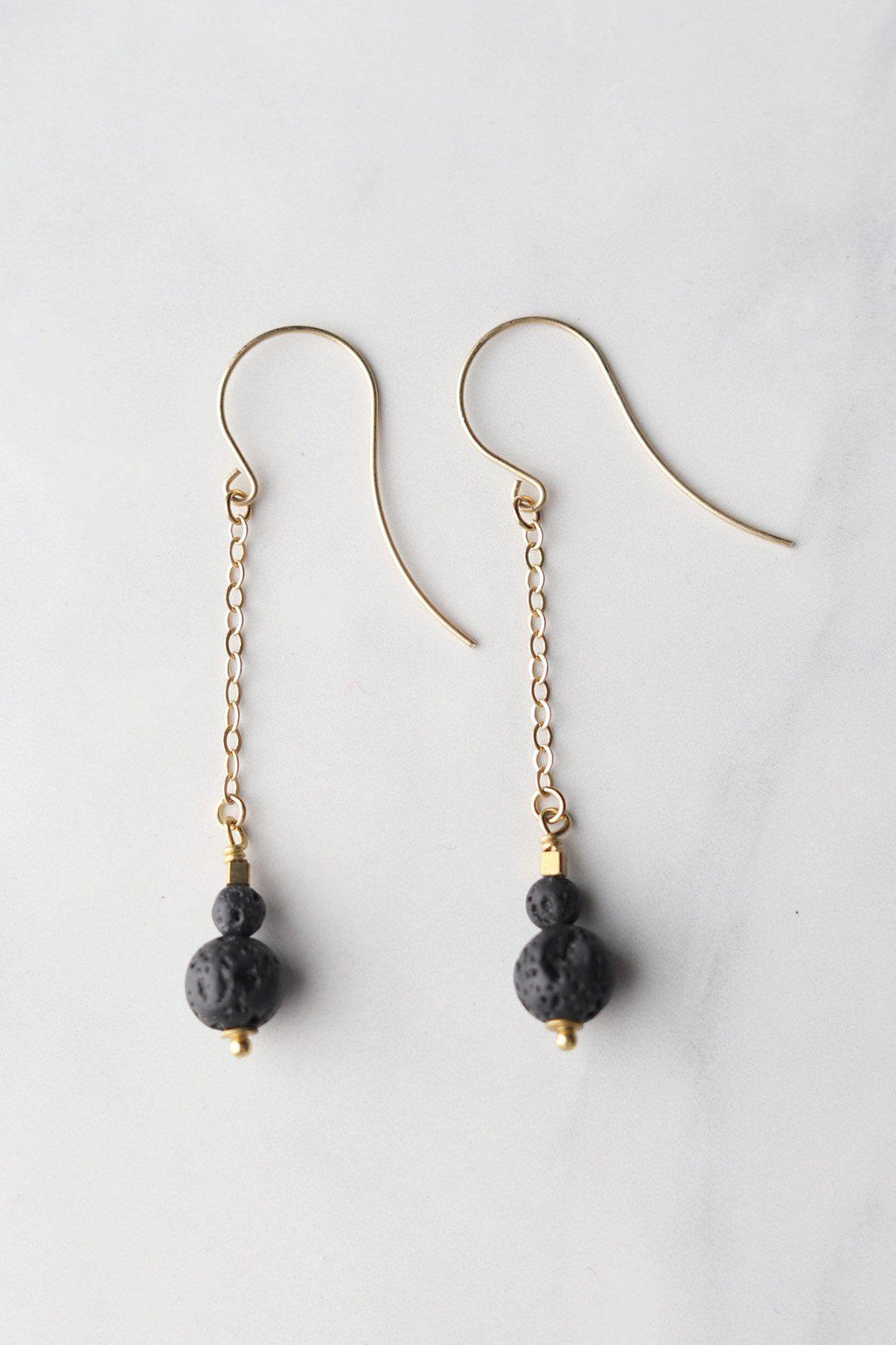 Lavastone Apothecary Earrings / Gold - Gallery 512 Boutique