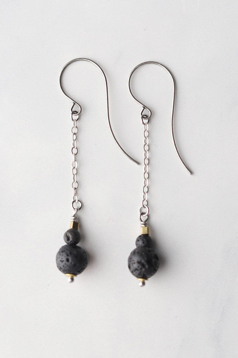 Lavastone Apothecary Earrings / Silver - Gallery 512 Boutique