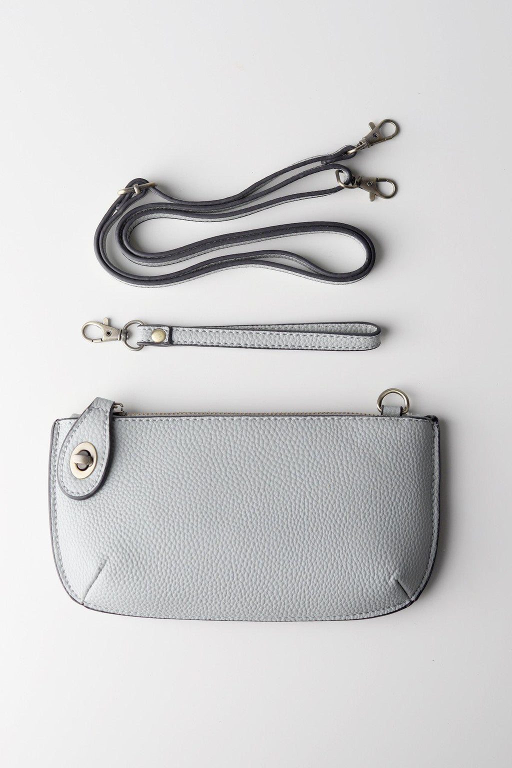 Wristlet Clutch / Grey - Gallery 512 Boutique
