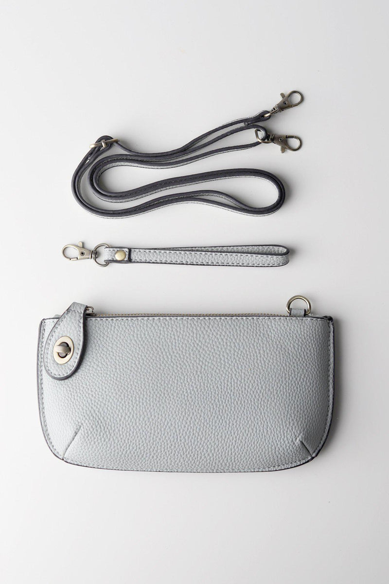 Grey Wristlet Clutch - Gallery 512 Boutique