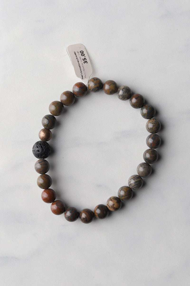 Men's Red Jasper Aromatheraphy Bracelet - Gallery 512 Boutique