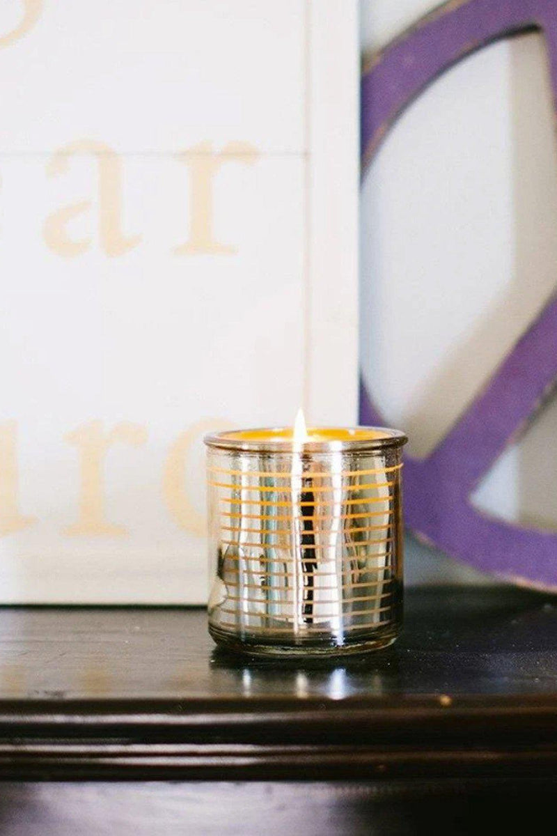"Metallic Stripe ""Sweet Grace"" Tumbler Candle - Gallery 512 Boutique"