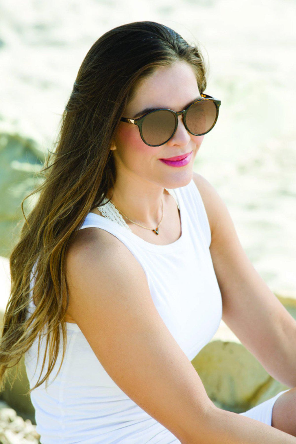 """Miri"" Ivory Tortoise Polarized Sunglasses - Gallery 512 Boutique"