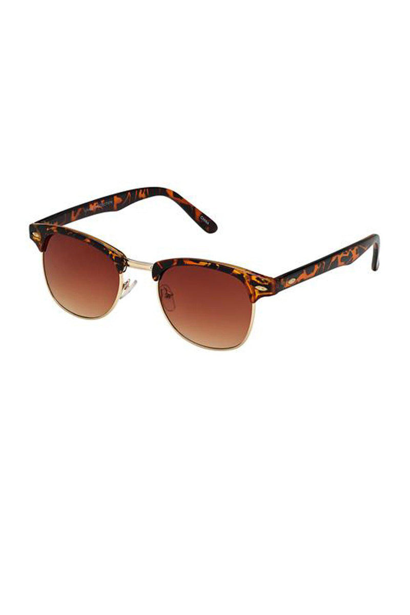 Clubmaster Tortoise Unisex Sunglasses / Brown Lens - Gallery 512 Boutique
