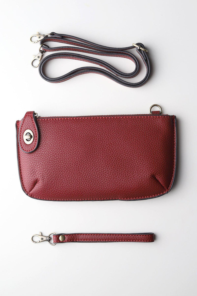 Wristlet Clutch / Garnet - Gallery 512 Boutique