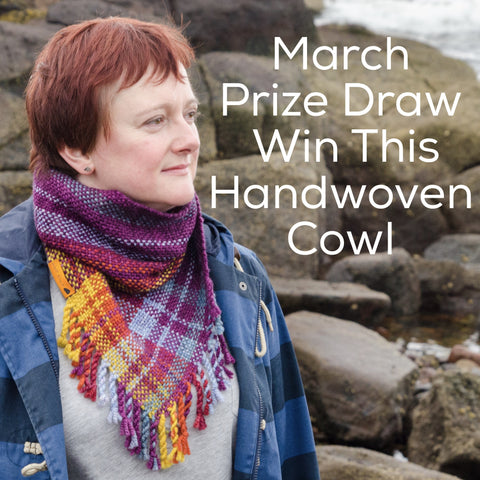 March Prize Draw - Win a Weft Blown Handwoven Cowl
