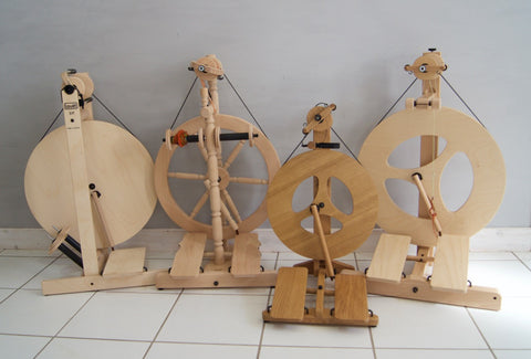 Louët Spinning Wheel family at Weft Blown