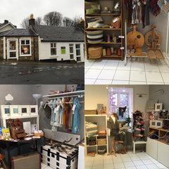 Weft Blown studio in West Kilbride where you can buy my handwoven creations