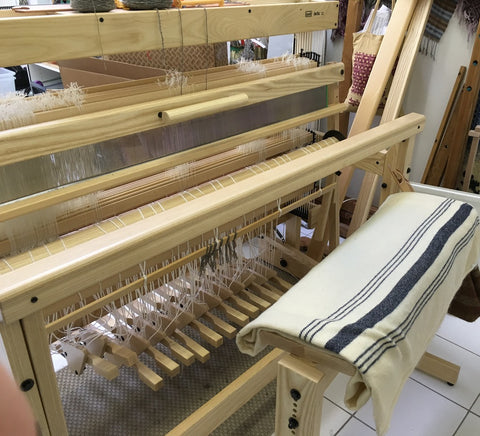 Ange's Louët Delta Floor Loom and Louët Bench