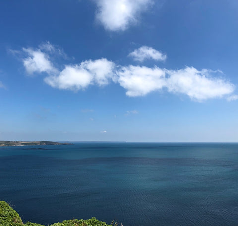 View from St Michael's Mount, Cornwall, July 2019. Photograph by Weft Blown