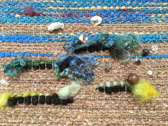 Sand Beach Textile Art for Highland Natural Accents
