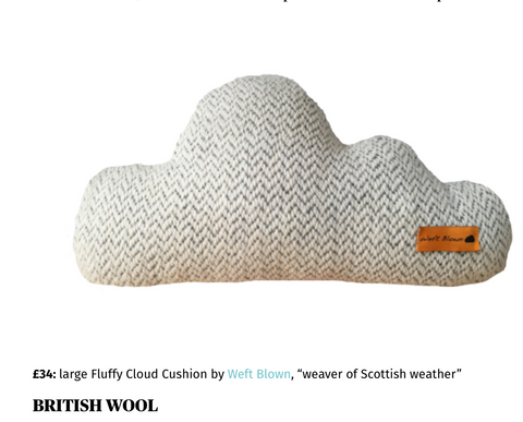 Weft Blown cloud featured in London Evening Standard