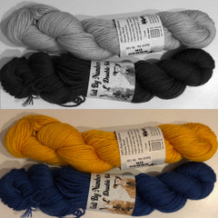 Yellow and Navy yarn