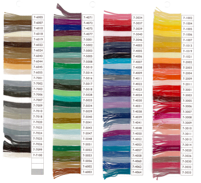 Venne Mercerised 20/2 Cotton Colour Card