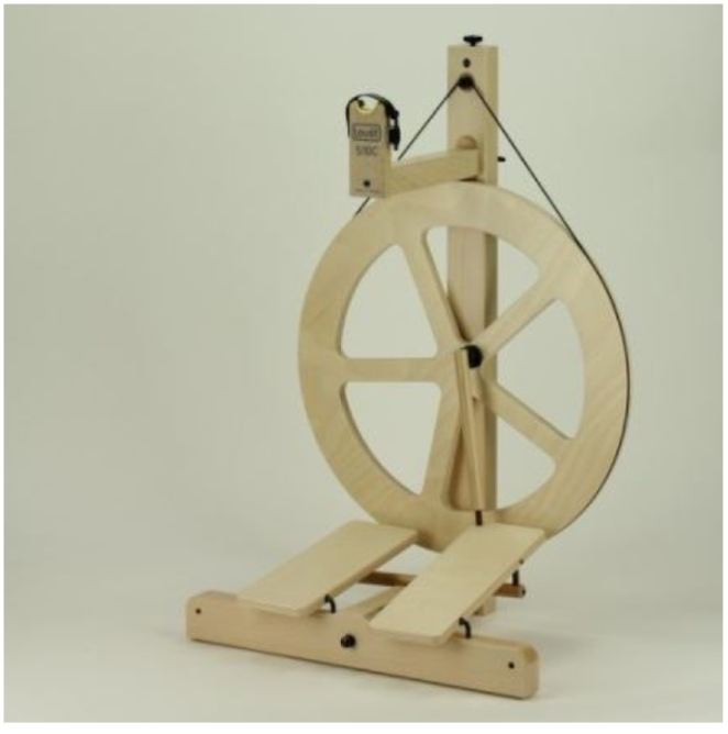 Louët S10 Concept 5 Spoke Spinning Wheel Double Treadle Irish Tension