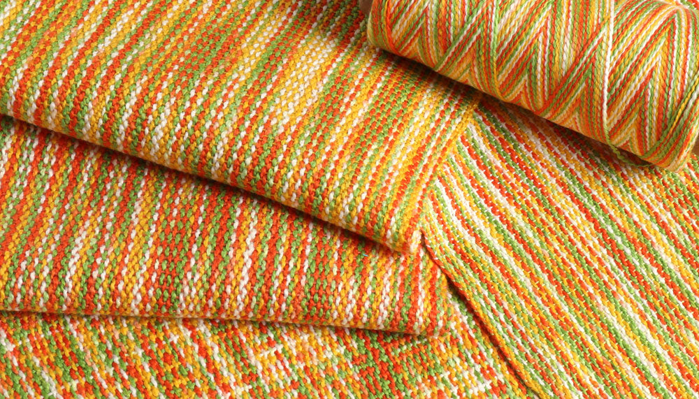 Ashford Caterpillar Cotton - Citrus Woven
