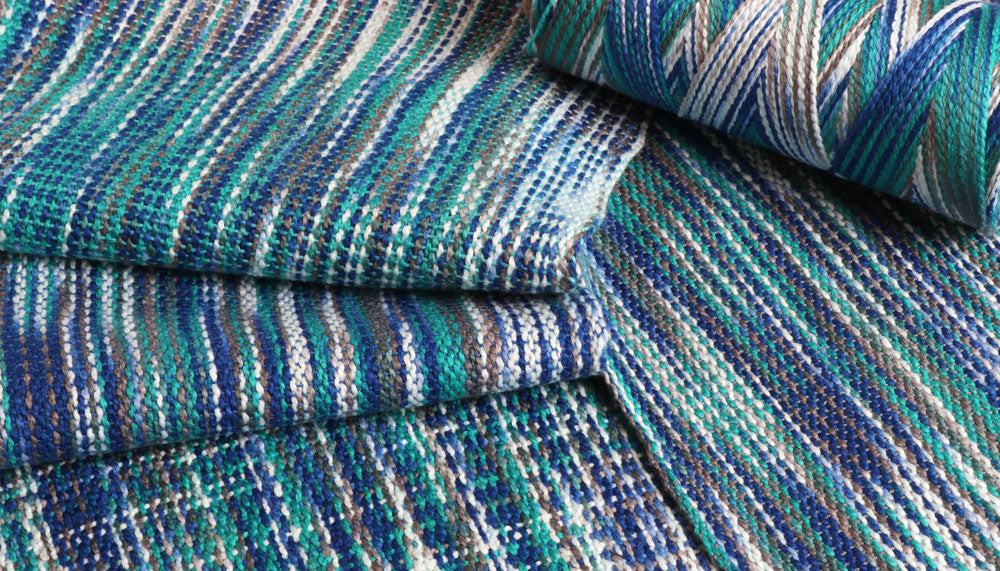 Ashford Caterpillar Cotton - Ocean Woven