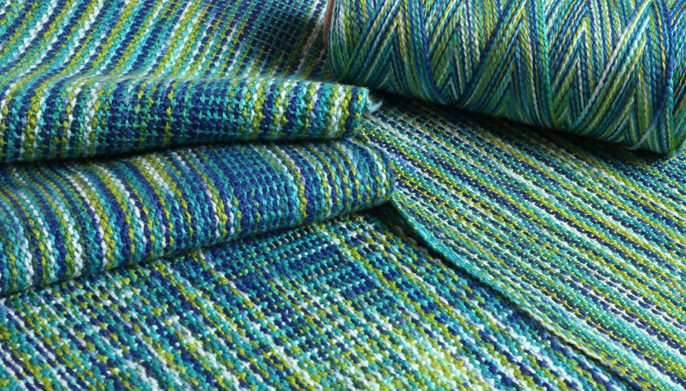 Ashford Caterpillar Cotton - Paua Woven