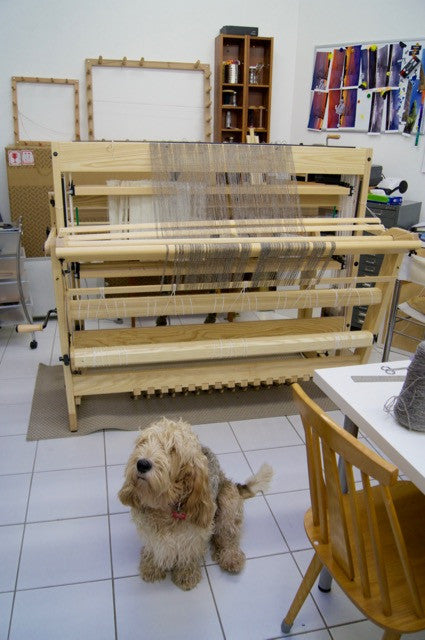 Louët Delta Floor Loom view from behind