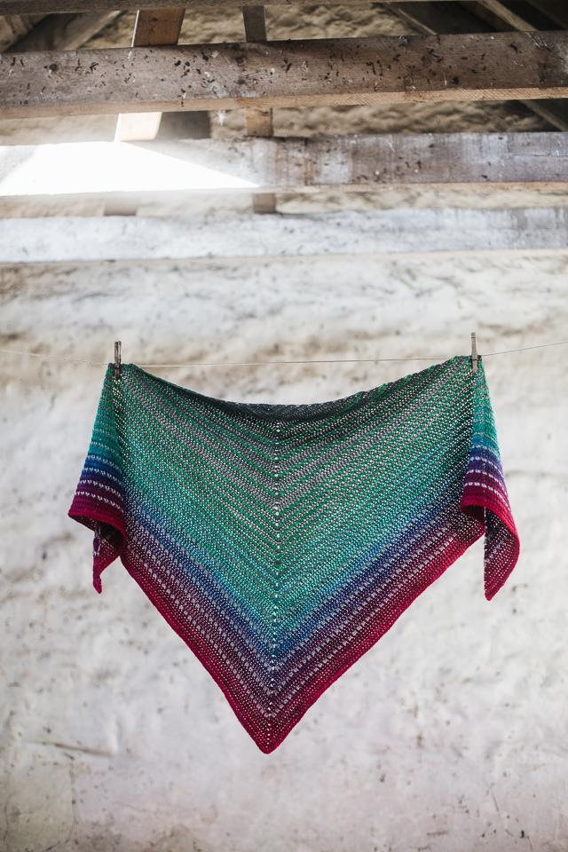 Diffraction Shawl by Joanne Scrace